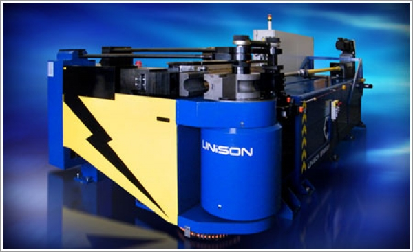 Unison Ltd. supplies a large, all-electric tube bender to help build aircraft carriers for the Royal Navy