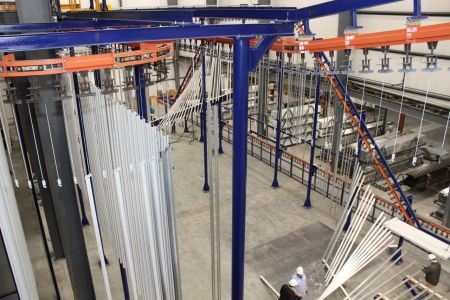Gateway Extrusions installs new vertical paint line