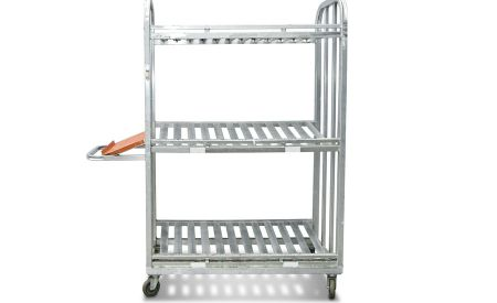 Three-tier picking cart for easy loading