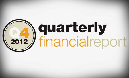 Q4 2012 quarterly financial report
