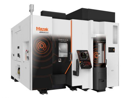 Mazak compact simultaneous 5-axis machine features auto work changer