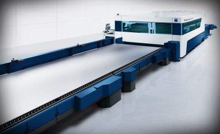 Laser cutting system commands oversized formats