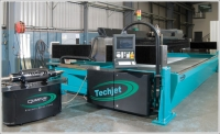 Techni Waterjet's Quantum ESP uses electric power instead of hydraulic