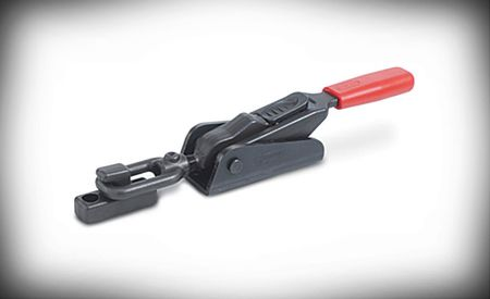 Latching toggle clamps provide high retaining force