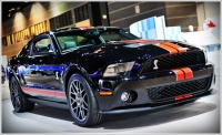 Thanks to an all-aluminum block, the 2011 Shelby GT500 sheds pounds and gains power