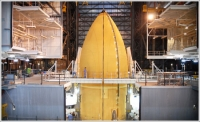 In its most recent launch, the space shuttle's external tank was practically seamless