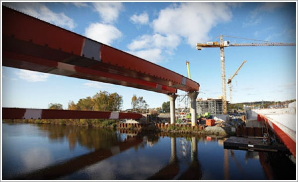 Ruukki provides steel structures for several big Swedish bridge projects