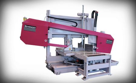 Mitering band saw for structural material